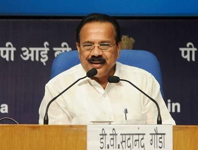 Union Minister D.V. Sadananda Gowda. (Photo: IANS)