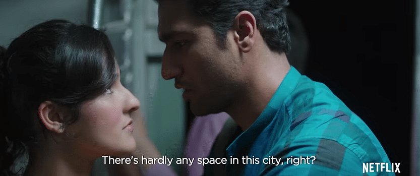 Angira Dhar and Vicky Kaushal in a still from <i>Love Per Square Foot.</i>