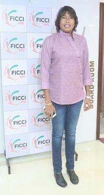 New Delhi: Indian women cricketer Jhulan Goswami during