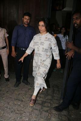 Mumbai: Actress Divya Dutta arrives at actor Anil Kapoor