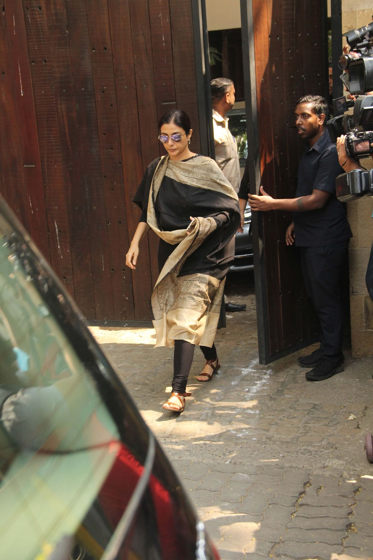 Actor Tabu outside Anil Kapoor's house.