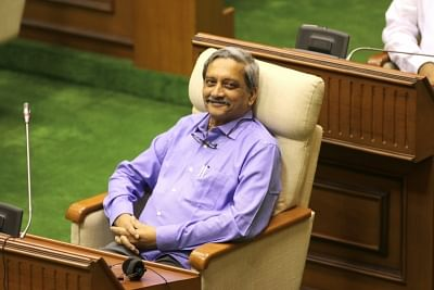 Panaji: Goa Chief Minister Manohar Parrikar during the Budget Session of state assembly in Panaji on Feb 22, 2018. (Photo: IANS)