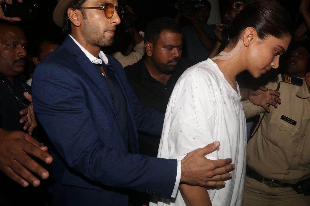 Deepika Padukone with Ranveer Singh.
