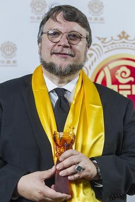Film director Guillermo del Toro. (Xinhua/Zhao Hanrong) (zjy)