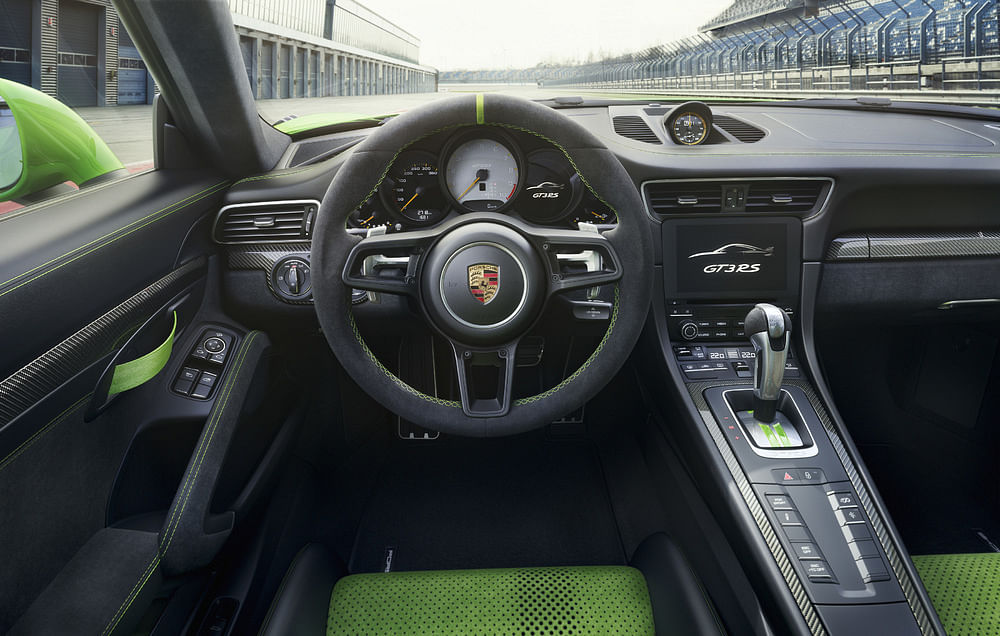The Porsche 911 GT3 RS features four-wheel steering.