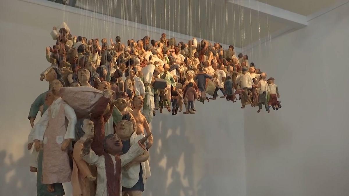 Refugees, Children of War Theme Hogs Limelight at India Art Fair
