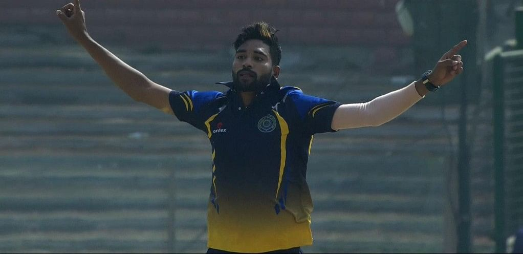 In the quarterfinal against Karnataka Siraj picked up five wickets for 59.