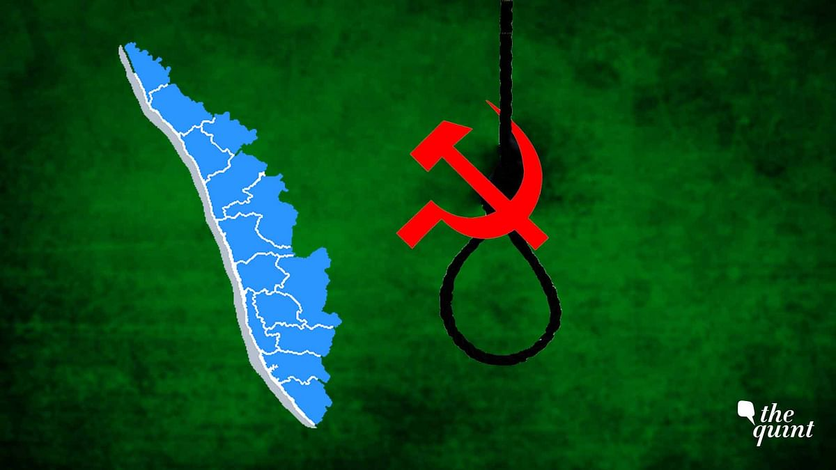 Illustration showing Kerala map and CPI(M) symbol on a noose, used for representational purposes.
