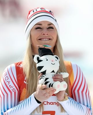 Lindsey Vonn of the United States.(Yonhap/IANS)