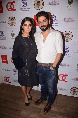 Mumbai: Actors Pooja Gor and Raj Singh Arora during a programme in Mumbai on Jan 16, 2018. (Photo: IANS)