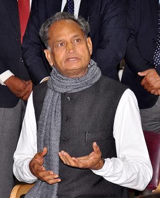 Ashok Gehlot. (Photo: Ravi Shankar Vyas/IANS)