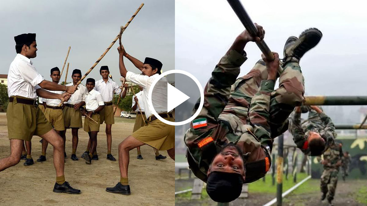 RSS chief Mohan Bhagwat says if the Constitution permits, his men can be trained to guard India's borders in a matter of three days, unlike the Army's training period.