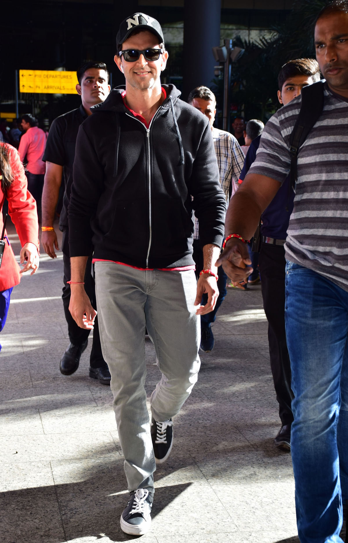 Hrithik Roshan spotted at the airport.