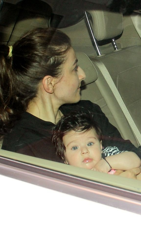 Inaaya Naumi spotted with mommy Soha Ali Khan.