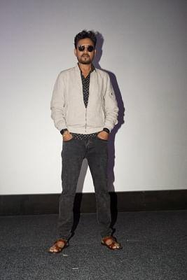"""Mumbai: Actor Irrfan Khan at the special screening of film """"Qarib Qarib Singlle"""" in Mumbai on Nov 10, 2017.(Photo: IANS)"""