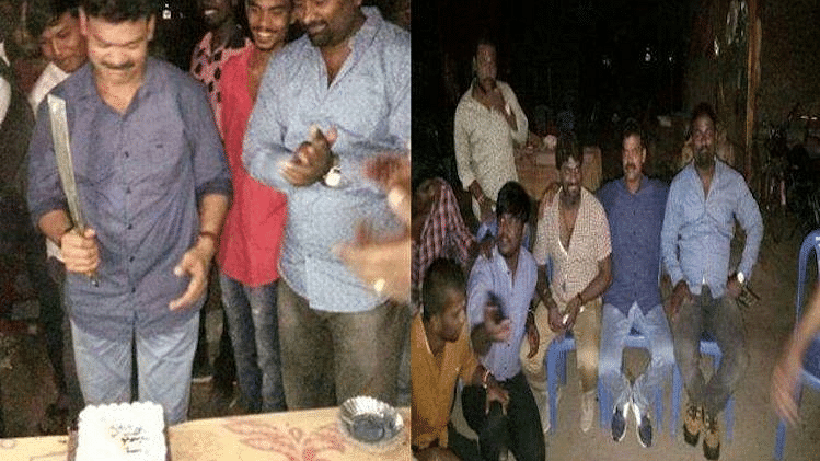 The party was gatecrashed by 100 Chennai police officers, who nabbed 76 of the criminals in the next nine hours.