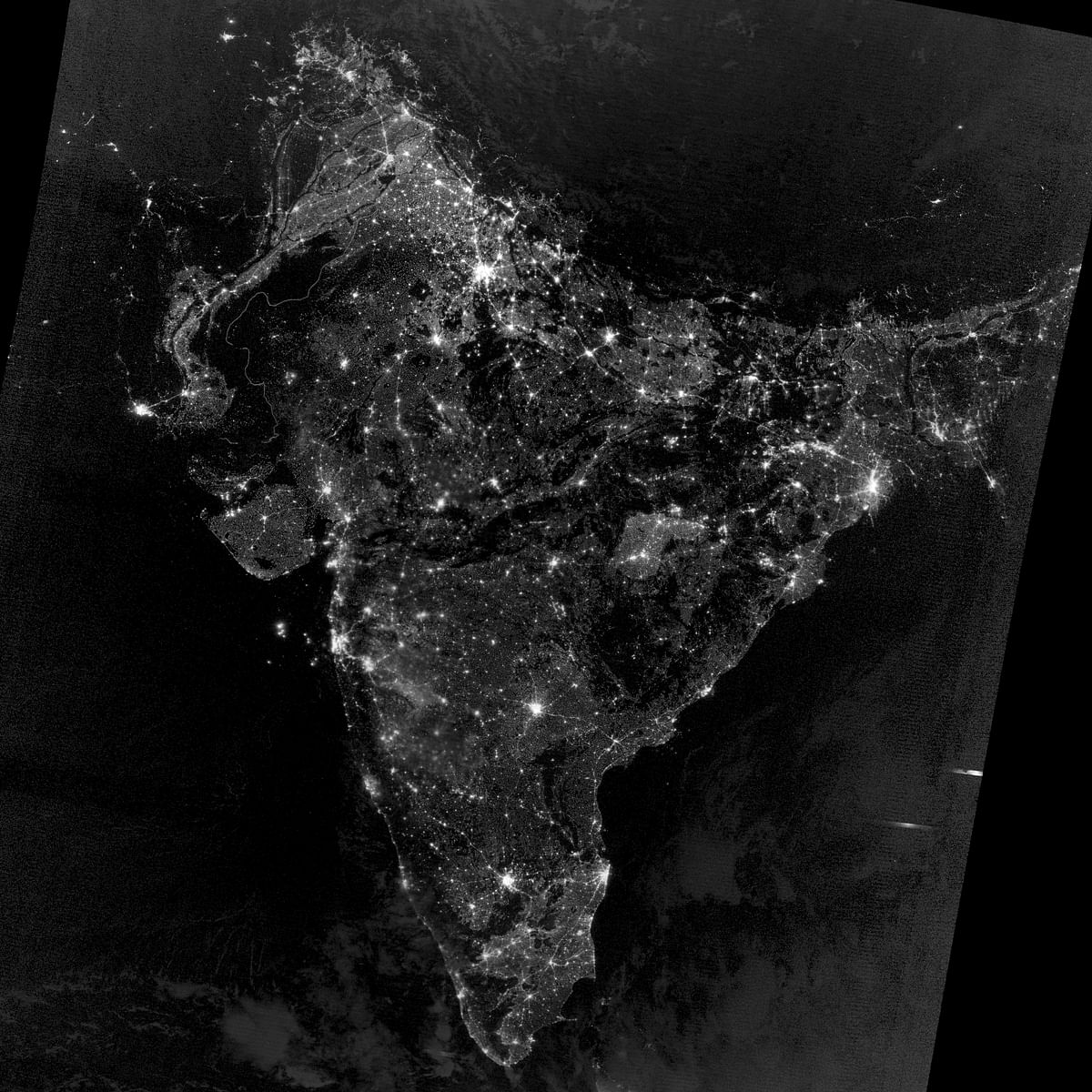 Image released by NASA Earth Observatory on 5 December 2012 that shows India during Diwali celebrations.
