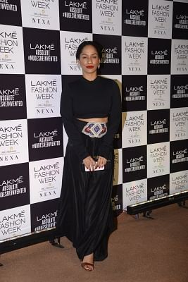 Mumbai: Fashion designer Masaba Gupta during the Lakme Fashion Week Summer/Resort 2018 in Mumbai on Feb 4, 2018. (Photo: IANS)