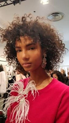 New York City: A model showcases jewellery designed by Ketan and Jatin Choskhi during designer Bibhu Mohapatra