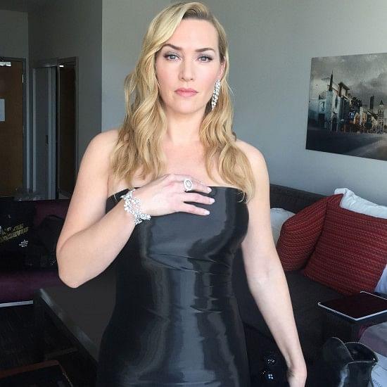 Kate Winslet sporting Nirav Modi designs for the Oscars.
