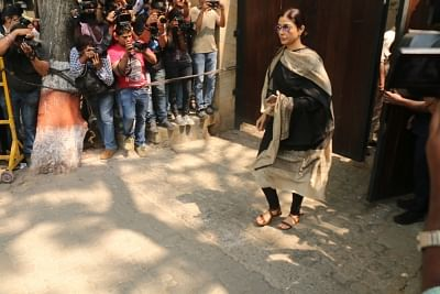 Mumbai: Actress Tabu arrives at actor Anil Kapoor