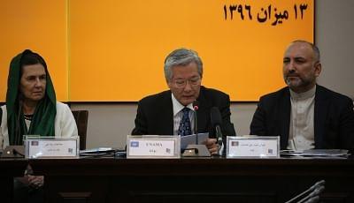 UNAMA chief Tadamichi Yamamoto (C). (Xinhua/Rahmat Alizadah/IANS)