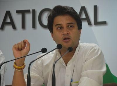 Congress leader Jyotiraditya Scindia. (Photo: IANS)