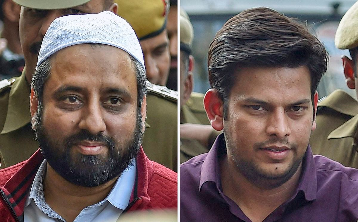 AAP MLAs Amanatullah Khan and Prakash Jarwal were produced at Tees Hazari Court in the Delhi Chief Secretary alleged assault case  on 21 February.