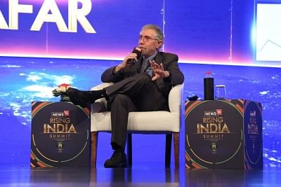 New Delhi: Nobel Prize winning economist Paul Krugman addresses during News18 Rising India Summit in New Delhi on March 17, 2018. (Photo: IANS)