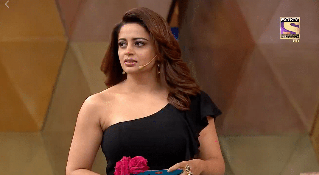 Stock reaction look from Neha Pendse to most of the sexist and suggestive lines thrown at her.