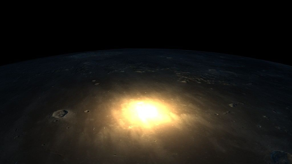 As the meteor collided with the moon on 17 March 2013, the site of impact glowed.