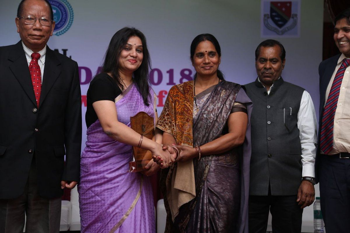 A picture from the award ceremony in Bangalore.
