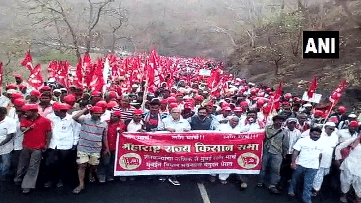 The farmers 'Long March' that took place in Maharashtra in March 2018.