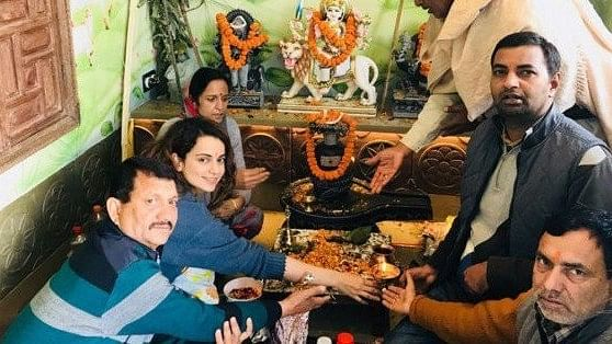 Kangana Ranaut performs grihapravesh puja at her Manali house.