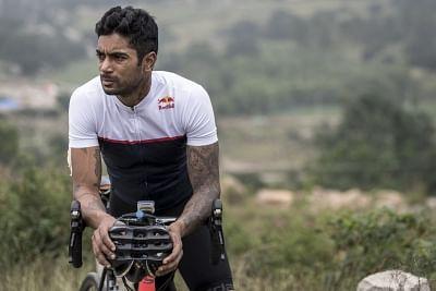 Indian racer C.S. Santosh.