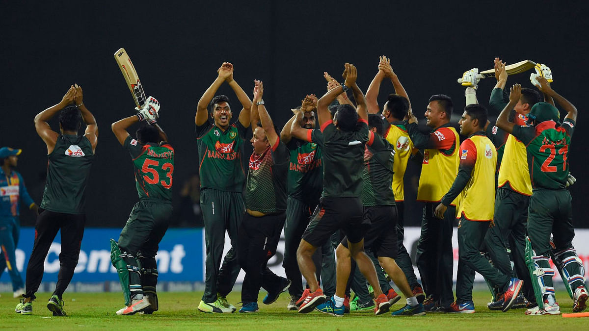 Bangladesh captain Shakib Al Hasan and reserve player Nurul Hasan were fined 25 percent of their match fees.