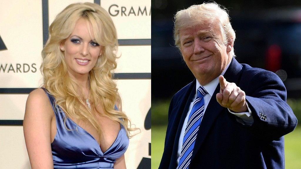 Adult film star Stormy Daniels and US President Donald Trump.