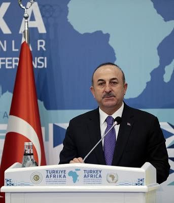 Turkish Foreign Minister Mevlut Cavusoglu . (File Photo: Xinhua/Anadolu Agency/IANS)