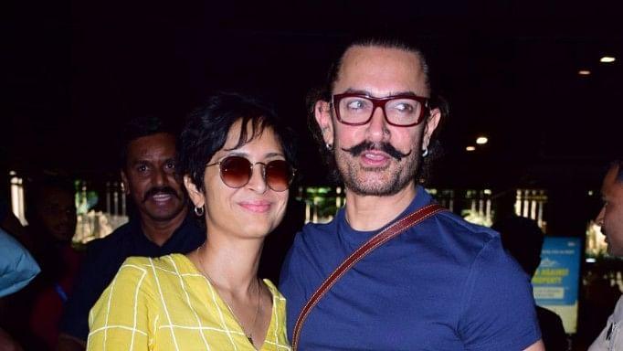 Filmmaker Kiran Rao with her husband, Aamir Khan.
