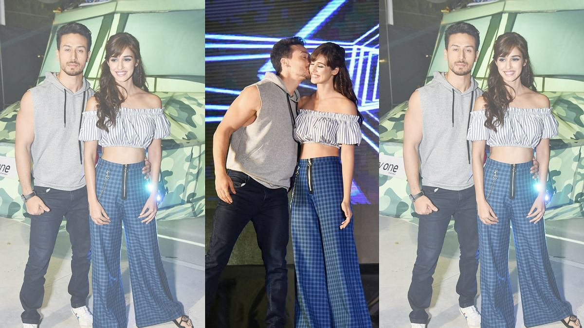 Tiger Shroff with Disha Patani.