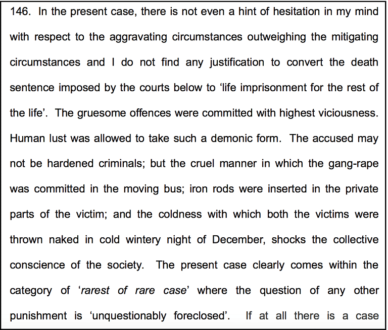 """Justice Bhanumathi on the judicial bench that awarded death sentence to the accused in the 2012 """"Nirbhaya"""" gang rape case."""