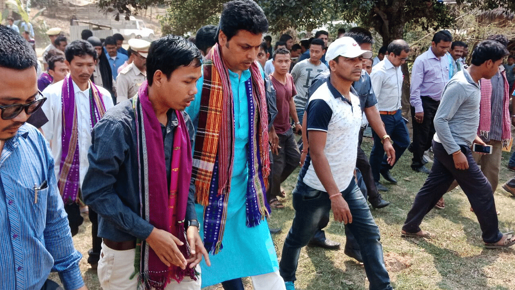 Tripura Chief Minister Biplab Deb visited the sub-division of Gandacharra in the Northern Tripura district of Dhalai.