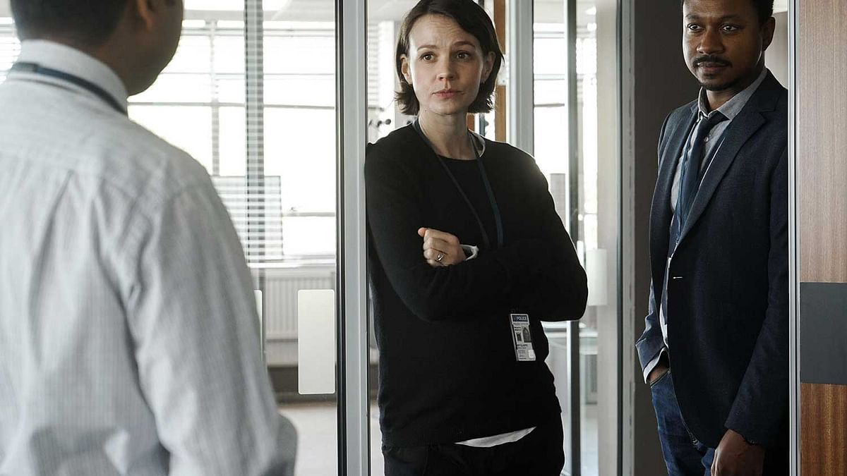 Carey Mulligan and Nathaniel Martello-White in a still from <i>Collateral.</i>