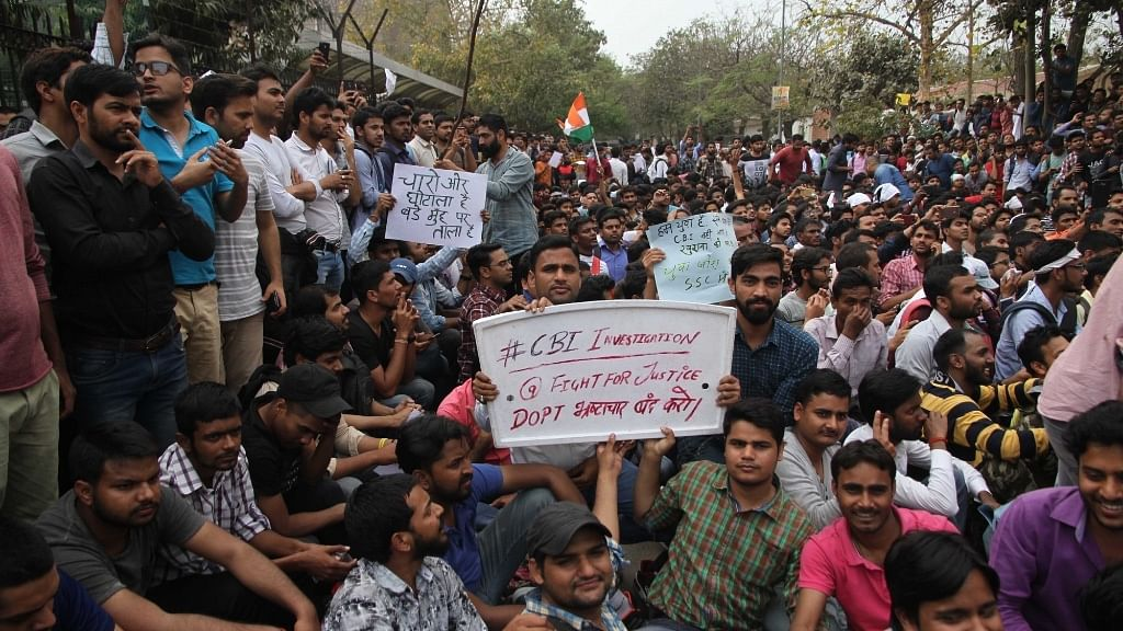 SSC aspirants stage massive protests against the alleged 'scam' on 4 March.
