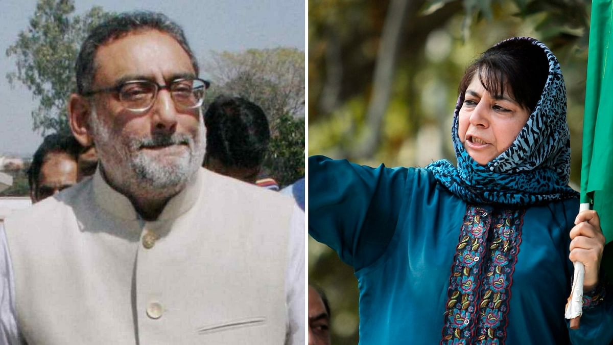Former J&K Finance Minister Haseeb Drabu (Left) and J&K Chief Minister Mehbooba Mufti (Right).