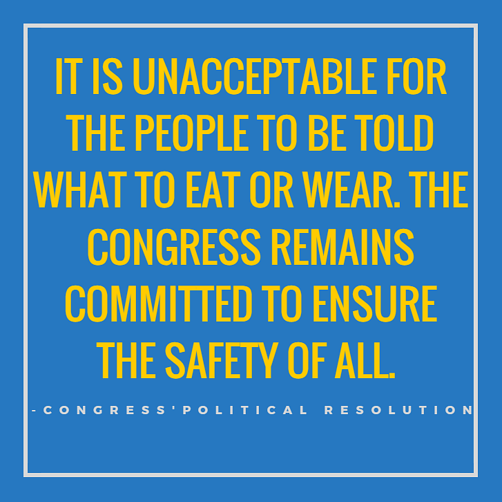 Cong Political Resolution: 'No One Can Dictate What We Wear & Eat'