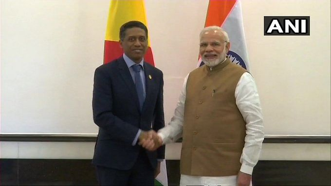 PM Narendra Modi with President of the Republic of Seychelles, Danny Antoine Rollen Faure.