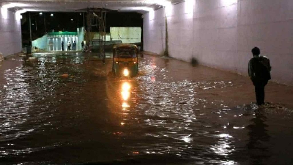 Waterlogging was reported in several parts of the city.