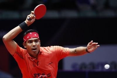 Indian table tennis player Achanta Sharath Kamal. (Photo: IANS)