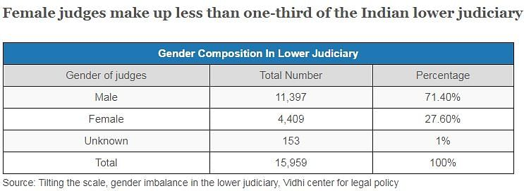 Less Than One-Third of Judges in Lower Judiciary Are Women